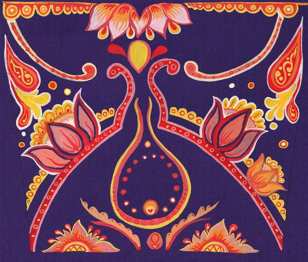 Indian Inspired Birthday Card Design
