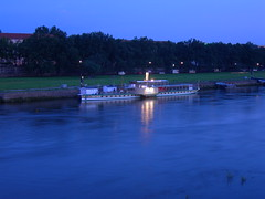 A Ship on the Elbe