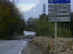 Vallabrégues Gard , le Rhône et le Gardon débordent ! DSCN0359