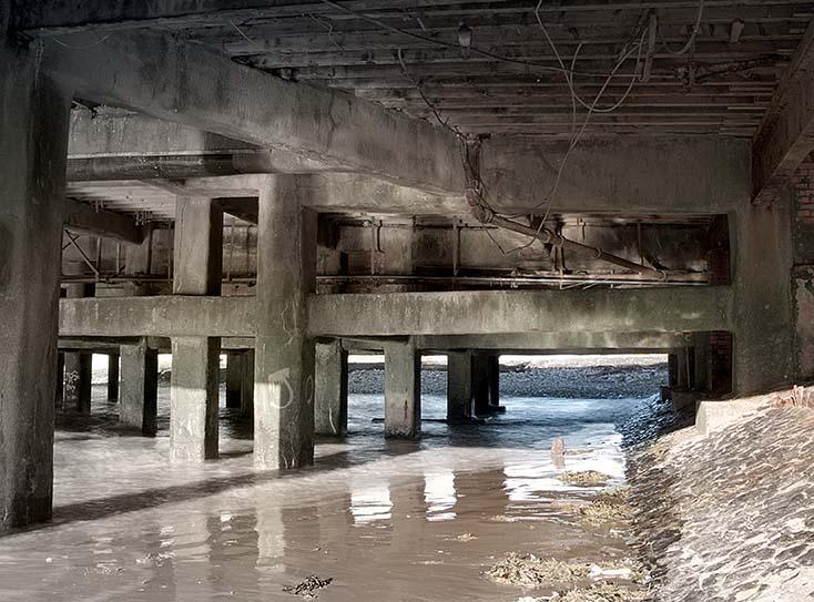 Photography - South Pier Reflections by Nicholas M Vivian