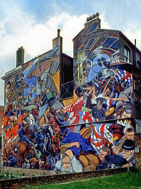 Cable street mural 1983 flickr photo sharing for Cable street mural