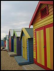 Beach boxes on Dendy beach... a Melbourne photography tradition