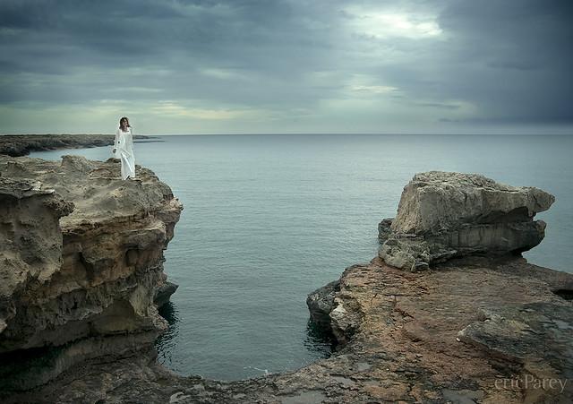 Girl on the rocks