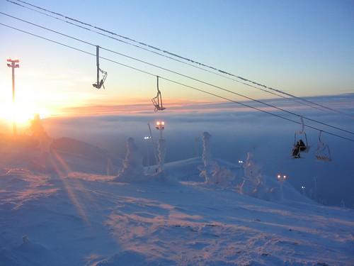 Skiing in Ruka Finland