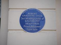 Photo of Robert Gascoyne-Cecil blue plaque