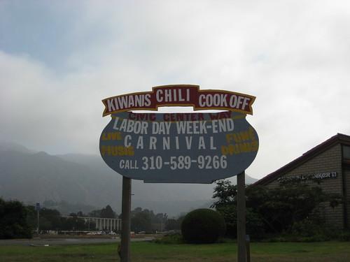 new chili cookoff sign. Zzzzzzzz...