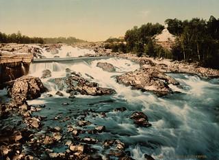 Hönefos rapids, Ringerike, Norway, ca. 1897