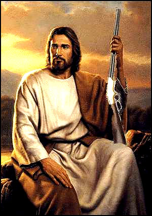 Jesus with rifle