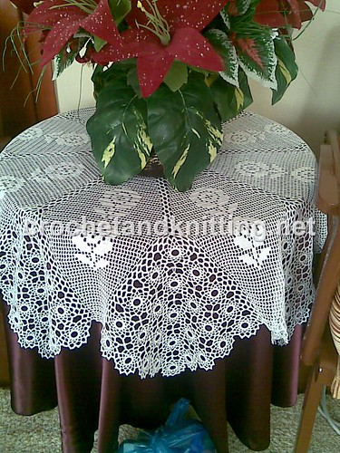 Roses Knitting Centre : Table center with rose pattern free crochet patterns