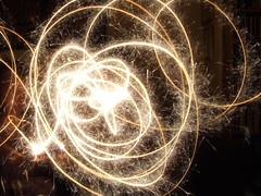fireworks, fractal art, light, sparkler, night,