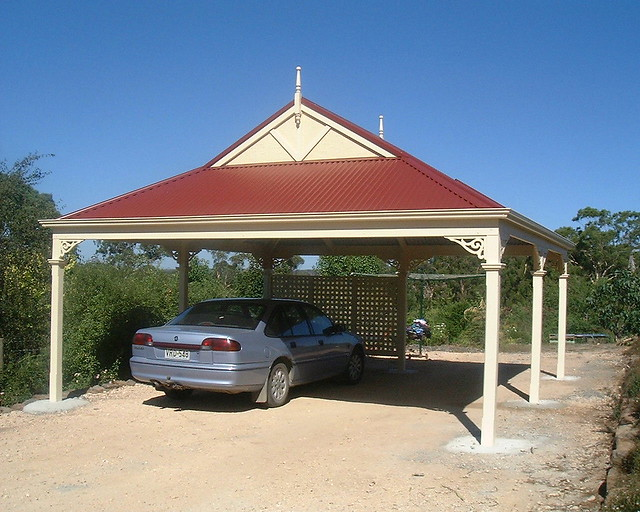 Dutch gable carport with colorbond steel roof flickr for Gable roof carport