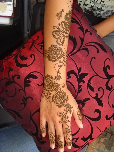 Rose Mehndi Patterns : Rose stencil henna design flickr photo sharing