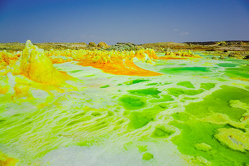 Green acid salt ponds - Dallol volcano, Danakil desert (Ethiopia)