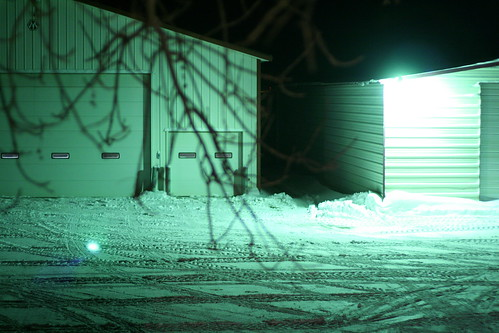 Sheds at Night