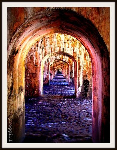 colors stone mexico shadows stones perspectives arches textures veracruz jails interestingplaces spanishconquest ancientbuildings sanjuandeulúa