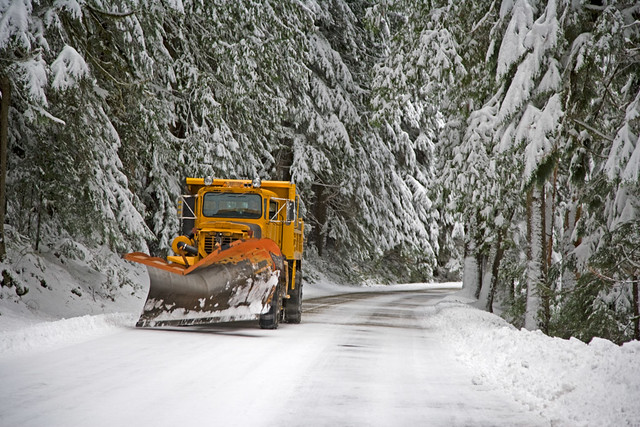 Snowplow, Road up to Paradise, Mt Rainier National Park