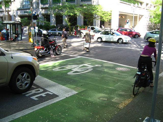 Portland Bike Box by Derek Severson on flickr