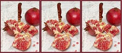 pomegranate, red, fruit, food,