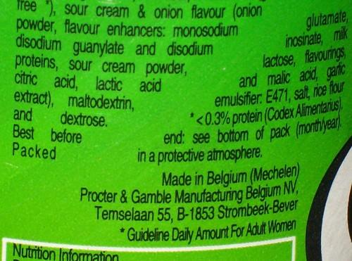 Broken: Pringles Ingredients