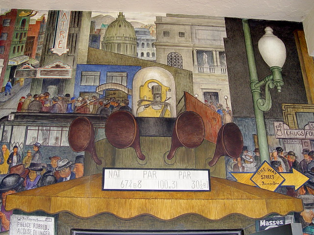 Diego rivera mural art at coit tower san francisco a for Coit tower mural