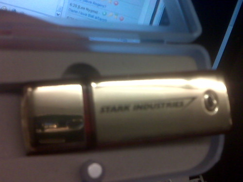 Stark Industries flash drive, front