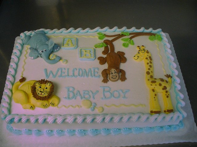 Animal Safari Baby Shower Cake