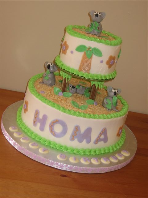koala bear birthday cake