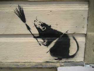 Banksy Broom Rat A