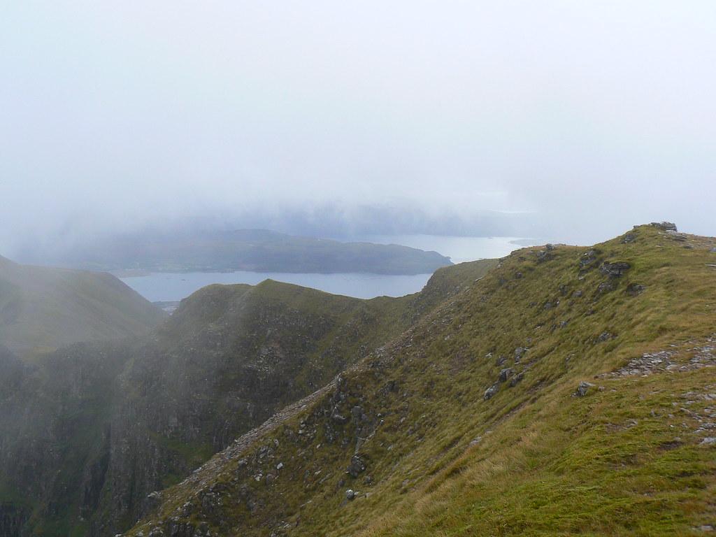 Beinn Bhan ridge and Loch Kishorn