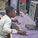 boy on computer by San José Library