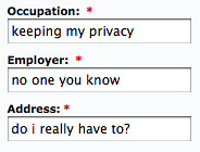 keeping my privacy