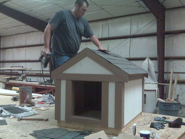 Preston building dog housejpg flickr photo sharing for Tuff shed dog house