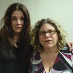 Johnette Napolitano with Rita Houston at WFUV