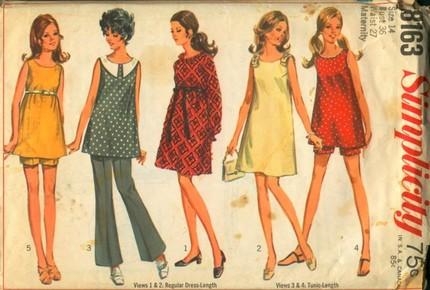 Vintage Simplicity Pattern 8163 Maternity Dress, Sundress, Tunic, Top Pattern NO ENVELOPE, NO PANTS and NO SHORTS Patterns Size 12