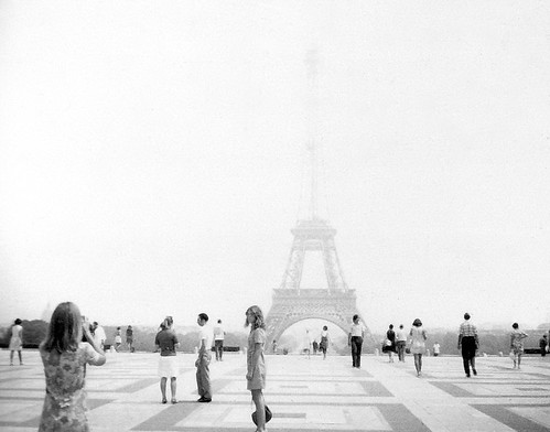 euro0056a Trocadero View of Eiffel Tower in Paris France 1969