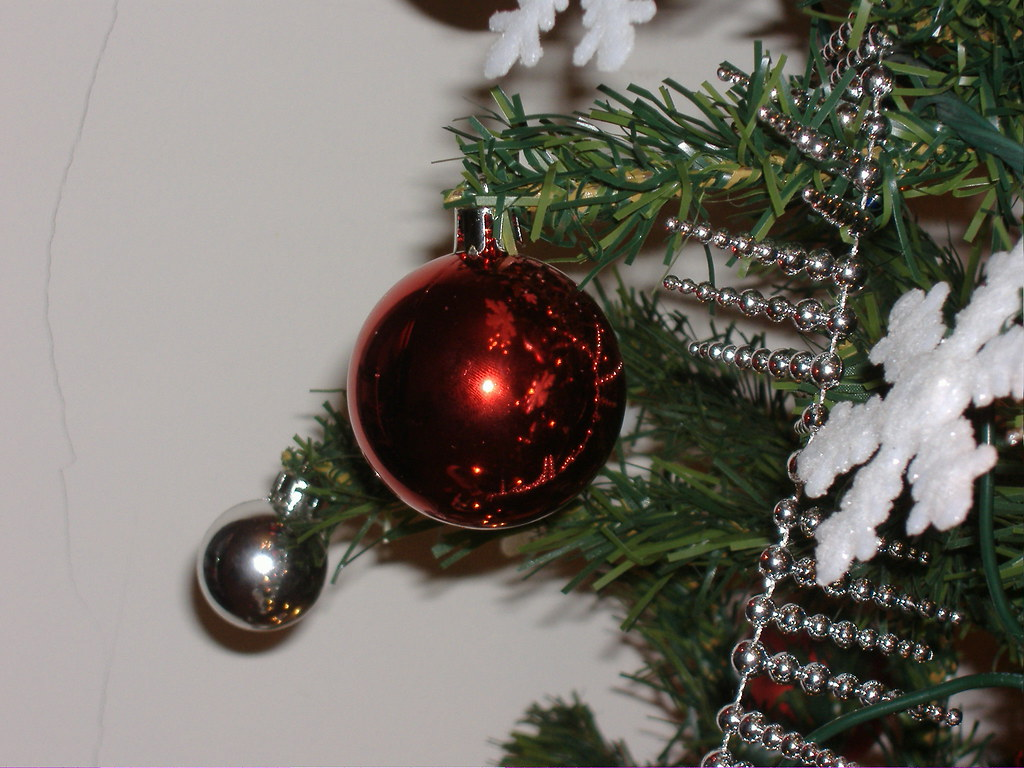 Bolas na Árvore de Natal