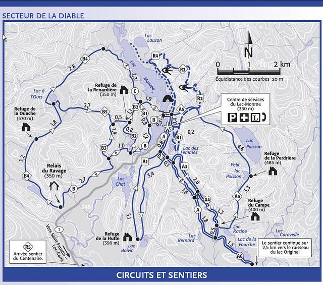 carte des pistes parc du mont tremblant secteur de la dia flickr photo