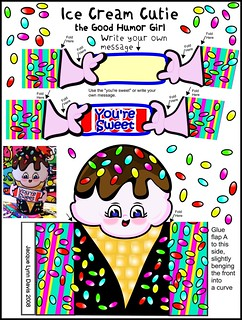 Ice Cream Cutie Paper Doll Pattern