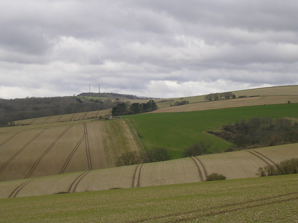 Patchwork fields Amberley to Pulborough