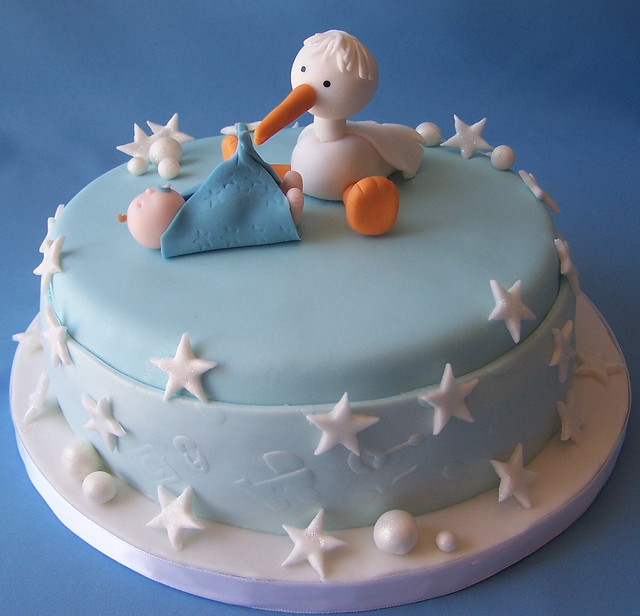 Decoracion Baby Shower Varon ~ Baby Shower Cake  Stork  Flickr  Photo Sharing!