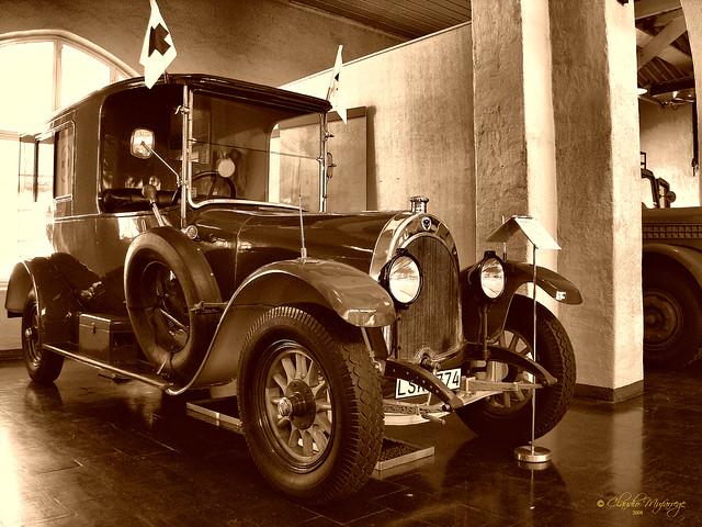 Sodertalje, Sweden 055 - Marcus Wallenberg Hall (Scania Museum) - 1917 Scania Ambulance