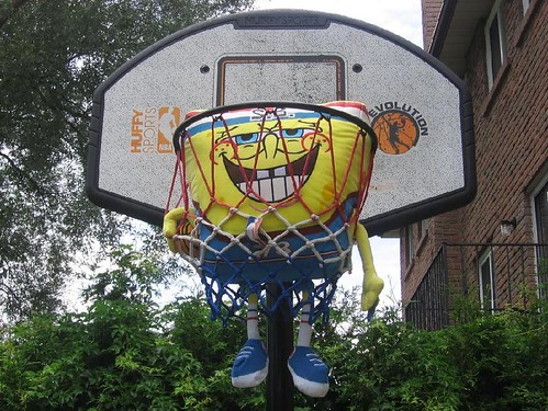 SpongeBob Playing Basketball