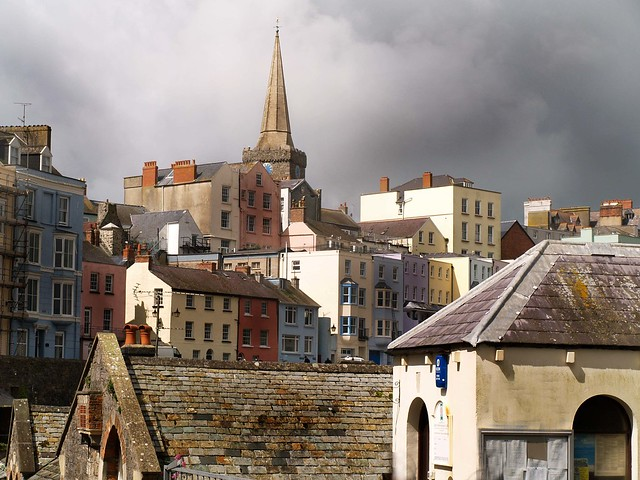 A Storm brewing in Tenby, South Wales