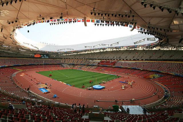 Wide angle bird 39 s nest national stadium beijing for The bird s nest stadium