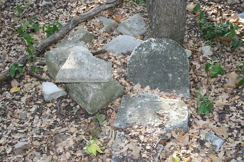More destroyed headstones