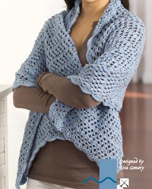 True Blue Friend Knit Shawl