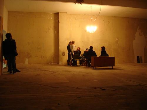 DEO Partylocation in einem ehemaligen Fitnessstudio. Dezember 2006