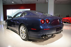 alfa romeo 8c competizione(0.0), automobile(1.0), automotive exterior(1.0), wheel(1.0), vehicle(1.0), performance car(1.0), automotive design(1.0), auto show(1.0), ferrari 612 scaglietti(1.0), ferrari s.p.a.(1.0), land vehicle(1.0), luxury vehicle(1.0), supercar(1.0), sports car(1.0),