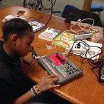 LaZae programming the ER-1 Korg rhythm synth