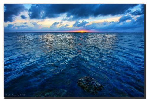ocean blue sunset sun clouds rocks florida hdr keybiscayne onblue coconutgrove biscaynebay canonefs1022mmf3545usm supershot billbaggscapefloridastatepark 3exp flickrsbest stiltsville abigfave anawesomeshot colorphotoaward diamondclassphotographer flickrdiamond brillianteyejewel miamidadeco dphdr goldstaraward bestofflickrsbest